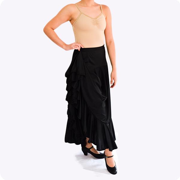 DAyuzo Todo para la Danza tienda en linea Falda de flemenco Ninas FMF2